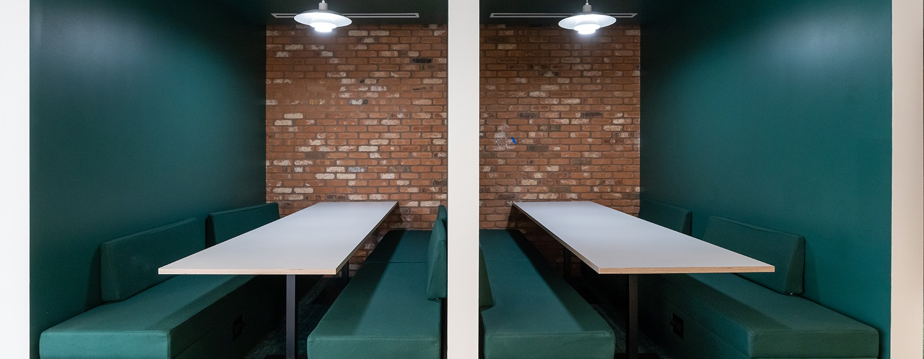 Co-working space area with ample seating