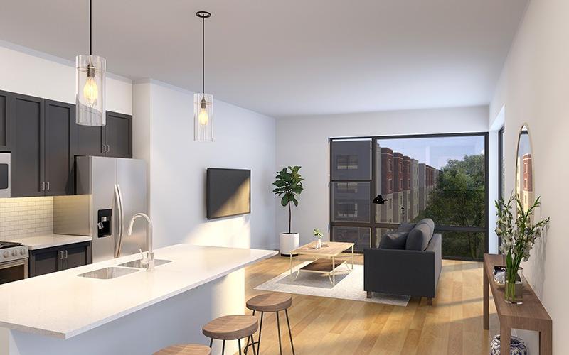 rendering of living area