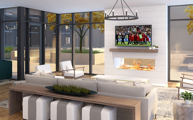 rendering of resident lounge