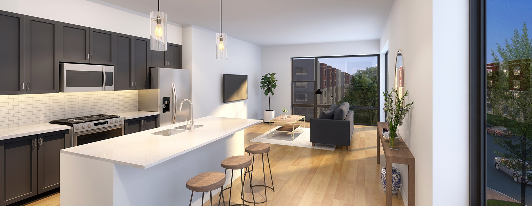 rendering of living area