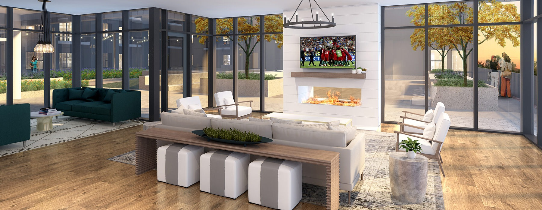 rendering of the resident lounge